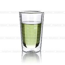 1x 250ml Heat Resistant Glass Thread Pattern Double Wall Wine Tea Drink Cups Mug