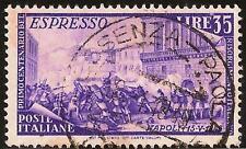 ITALIA REPUBBLICA - Risorgimento - Espresso 35 L. viol. (590)-usato - rif. 95 Re