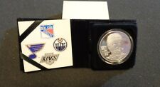 WAYNE GRETZKY NY RANGERS 1.5 OZT .999 FINE SILVER ROUND HIGHLAND MINT COIN