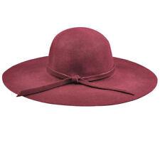 De ancho y gran ala diámetro Hat Retro Lana Bowknot Grace Suave señoras disquete Cloche