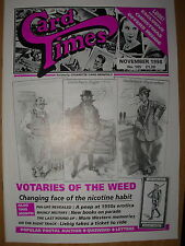 CARD TIMES MAGAZINE FORMERLY CIGARETTE CARD MONTHLY No 105 NOVEMBER 1998