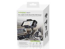 Support et chargeur voiture universel avec 2 entrées USB - Avantree