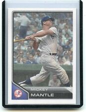 "2011 TOPPS LINEAGE #TCS5 MICKEY MANTLE ""CLOTH STICKER"", NEW YORK YANKEES, 041516"