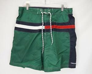 Tommy Hilfiger Logo Tommy Trunks Swim Shorts Green Men's Large - NWT