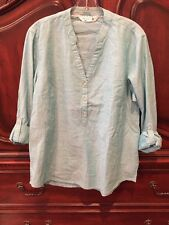 Ladies, M, Riders by Lee, Blue 3 Button, V-neck, Top