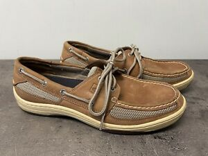 Sperry Top Sider Men's Size 9 Tarpon Boat Deck Shoe Brown Leather 2 Eye Lace Up