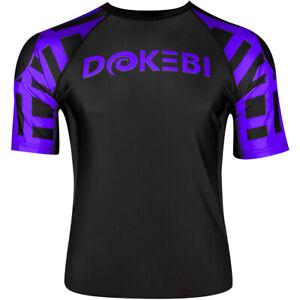 Dokebi Ghost Ranked Short Sleeve BJJ Rashguard - Purple
