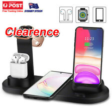 3in1 Qi Wireless Charger Fast Charging Dock Stand For Airpods Apple iPhone