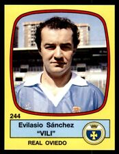 "Panini Futbol 89 (Spain) Evilasio Sánchez ""Vili"" Real Oviedo No. 244"