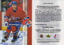 04-05 SP Authentic BUYBACK AUTO xx/53 Made! Mike RIBEIRO - Canadiens UD Update