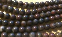 "16"" Natural Brown Agate Semi Precious Gemstone Beads 6MM ROUND UK EBAYER"