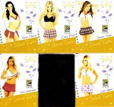 Bench Warmer School Girls 2014 Comic-Con exclusive promo card partial set (5/12)