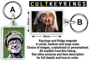 Blackadder keyring / fridge magnet - Goes Forth, Baldrick, Melchett, Queenie,