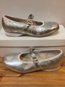 Womens Swinger Square Dance Shoes, Size 6.5 W, SILVER