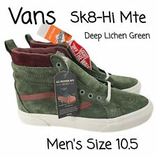 New listing NEW Vans Sk8 Hi MTE All Weather Deep Lichen Green Brown Shoes Mens Size 10.5