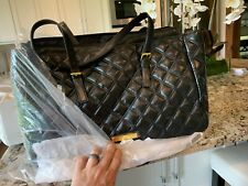 JOY & IMAN crea, Quilted Leather Tote Bag