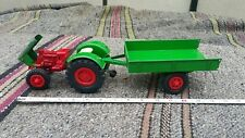 VNTG. D.B.G.M TRACTOR & TRAILER TOY WESTERN GERMANY M.S.FAVORIT DDR GDR 60'S