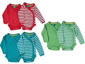 Little Green Radicals Organic wrap body vest top TWIN PACK  0 3 6 9 12  LGR
