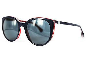 Emporio Armani Damen Sonnenbrille EA4043 5352/87 55mm blau rot 167  25