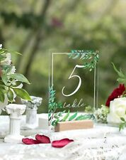 Ling's Moment Table Numbers - Garden Wedding - Acrlyic and wood - Numbers 1-25