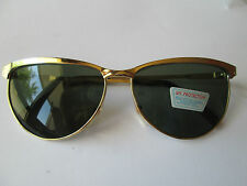 1 goldfarbene Sonnenbrille Retro Brille Nerdbrille 50s 60s Vintage Neu  50 60 n9