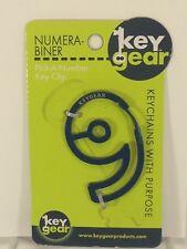 KeyGear - Number 9 ( Blue )  : Key Ring Holder - Alpha Carabiner