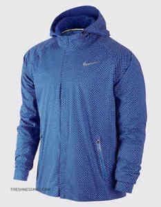 Nike Shield Flash Max Reflective Running Jacket Game Royal 619422 480 Men's M