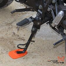 Orange Motorcycle Kickstand Plate Biker's Kick Stand Pad Guard Protector Derlin