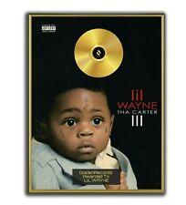 Lil Wayne Poster, Tha Carter III GOLD/PLATINIUM CD, gerahmtes Poster HipHop Rap