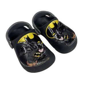 Crocs Toddler Boys 8 C Shoes Sandals Batman Slip On Superhero Black 3D Comfort