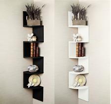 2/3/ 5 Tier Floating Wall Shelves Corner Shelf Storage Display Bookcase