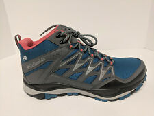 Columbia Wayfinder Mid Outdry Hiking Boots, Lagoon/Coral, Womens 9 M