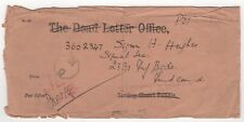 1943 INDIA Cover DEAD LETTER OFFICE to Bombay MILITARY WW2