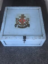 More details for incredibly rare large boys brigade sure & steadfast vintage hand painted chest