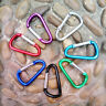 5 Useful D-Ring Aluminum Carabiner Keyring Chain Snap Hook Clip Camping Keychain