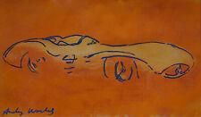 Unique PoP Art original mixed media, painting, signed 2x Andy Warhol w COA
