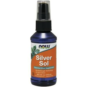 Now Foods Silver Sol 10 Ppm Liquid 4 Fl. Oz. Made in USA FREE SHIPPING