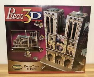 Wrebbit Puzz3D Notre Dame Cathedral 366 pieces NEW sealed in box