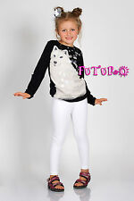 Thick Warm Cotton Girls Full Length Leggings Basic Plain Kids Pants Children