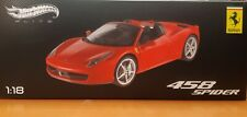 HOTWHEELS Elite Ferrari 458 Spider 1/18