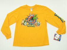 POKEMON 2004 Nintendo Long Sleeve Shirt Youth Gold Size Large