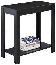 Wood Side End Table, Book Storage, College Dorm School Furniture. TV Night Stand