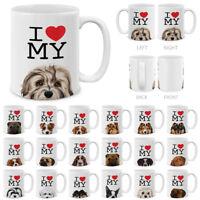 I Love My Dog Design Tea Coffee Ceramic Travel Cup Water Mug 11 OZ