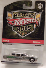 Hot Wheels Military Rods Limozeen Armored Transport Car Limousine Spoke Five Hub