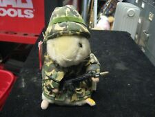 Gemmy Dancing Hamster Sgt. Scruffy Figure w/ Hang Tag