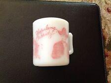 Cowboy Mug 1950's Hazel Atlas RED Hopalong Cassidy Coffee Cup