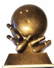 "Awesome 4"" Bronze Kids Bowling Trophy Award Statue"