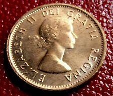 BU  GEM 1963 CANADA One Copper Cent,  Nice Brilliant High Grade CANADIAN Penny.