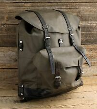 Vintage Swiss Army Military Rubberized Rucksack Backpack