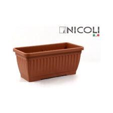 Jardinera rectangular C/plato 40cm terracota Eden / Nicoli
